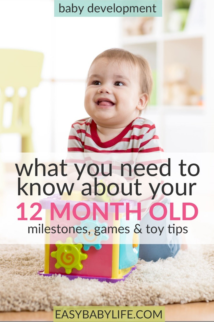 The able little 12-month-old. Here's a great guide to 12-month-old baby development milestones, tips on games to play and toy tips for 12-month-old babies. 12-month-old baby activities, things to do with a 12-month-old baby, 12-month-old baby tips. #baby #toddler