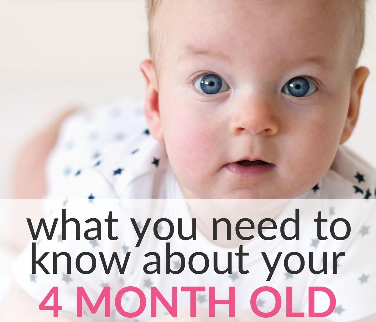 4-month-old baby development