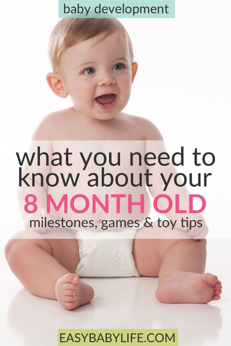 The cute little 8-month-old. Here's a great guide to 8-month-old baby development milestones, tips on games to play and toy tips for 8-month-old babies. 8-month-old baby activities, things to do with an 8-month-old baby, 8-month-old baby tips. #baby