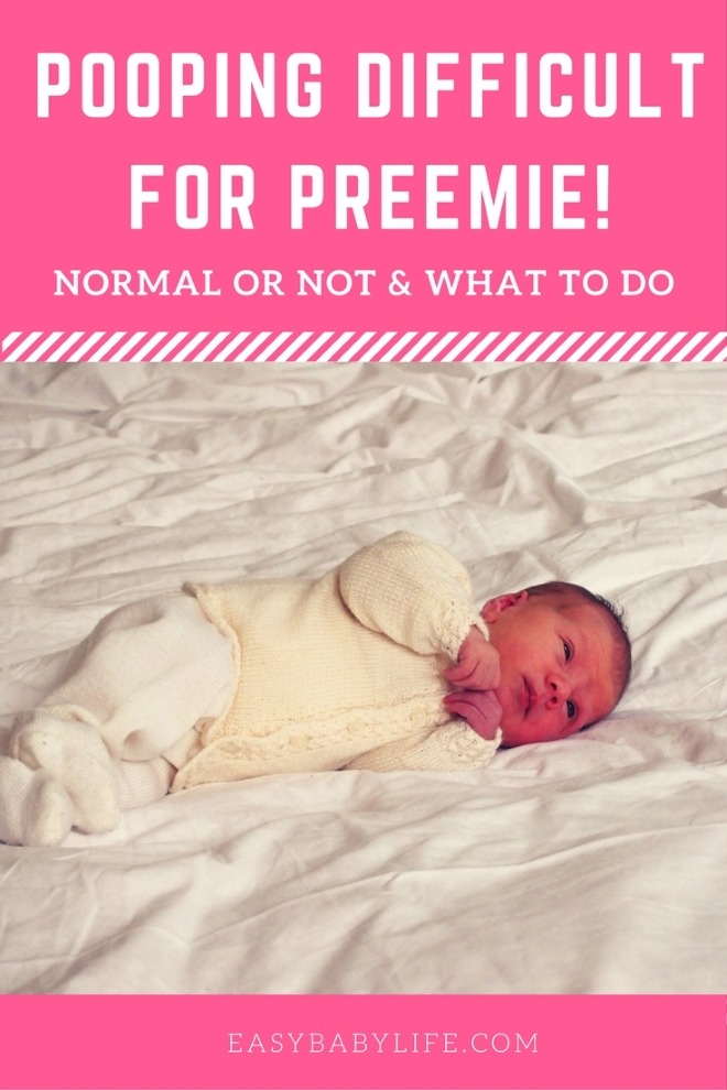 pooping difficult for preemie