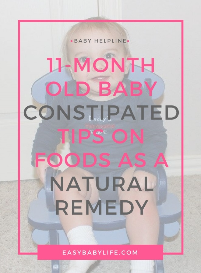 11-month-old constipated