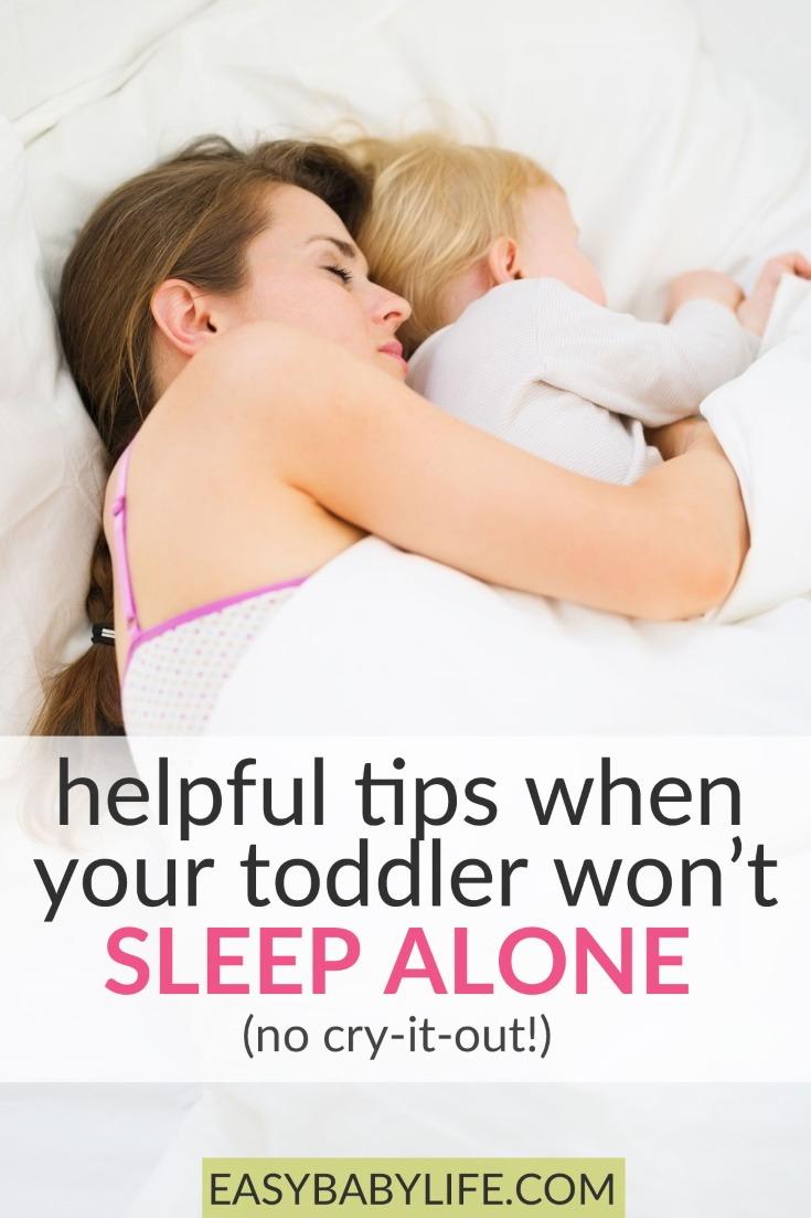 toddler won't go to sleep alone