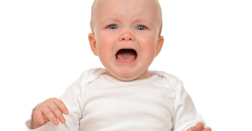 screaming 9-month-old baby