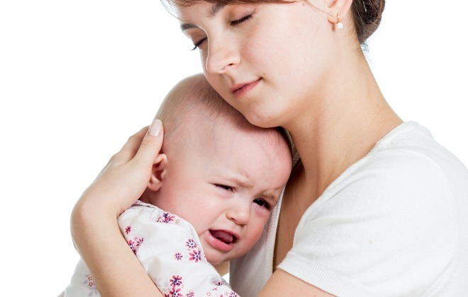 11-month-old baby cries