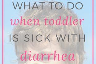 toddler with diarrhea