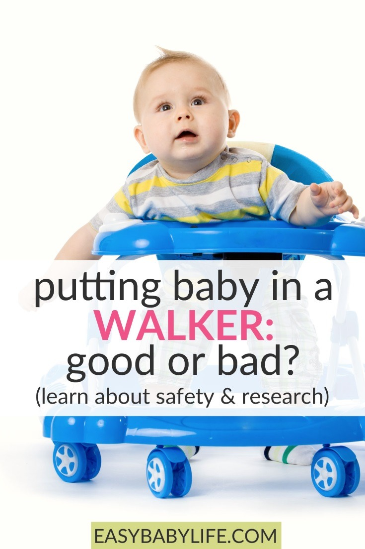 put baby in a walker