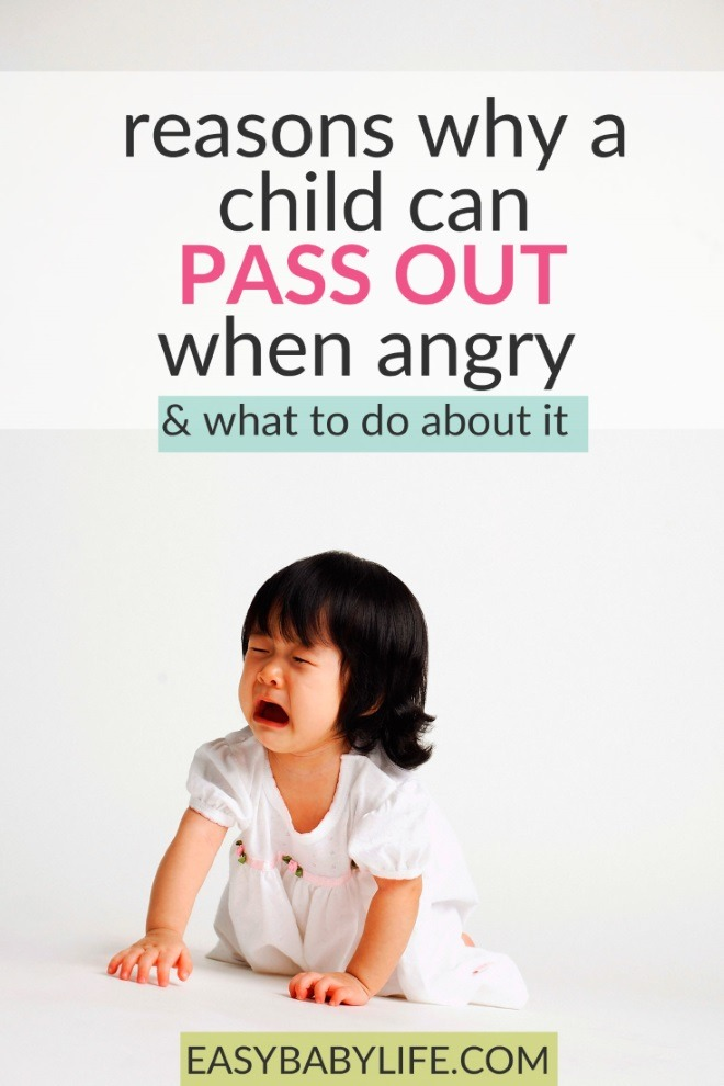 what could cause a child to pass out when angry