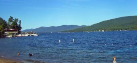 lake george ny with baby