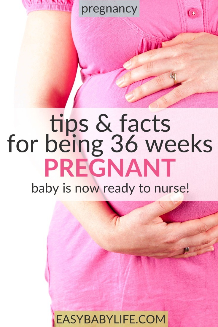 All the tips and facts for being 36-weeks pregnant! 36-weeks pregnant symptoms, 36 weeks pregnant labor, 36 weeks pregnant belly, third trimester, pregnancy, pregnancy tips, baby in week 36, #pregnancy