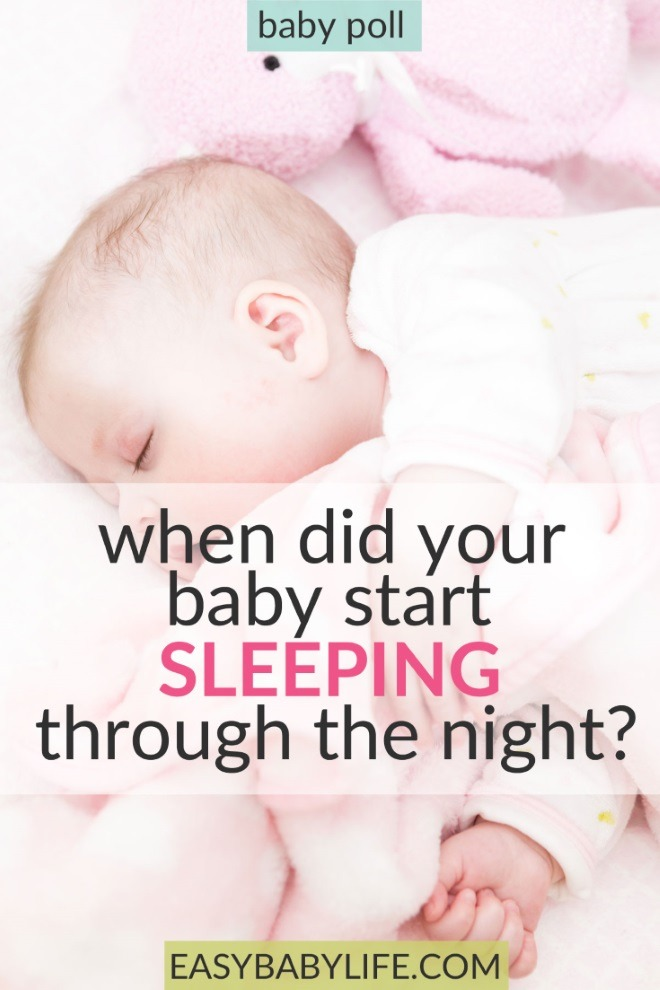 when did your baby sleep through the night poll