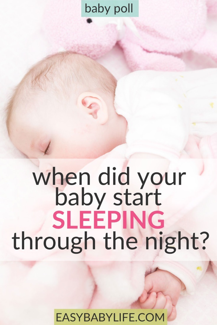What's your guess? When do most babies start sleeping through the night? Check out this poll! Baby sleep, Baby sleep through the night, baby pools, baby tips, baby sleep tips