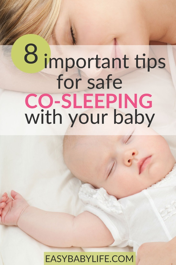 Do you co-sleep with your baby? It is wonderful but not without risks... Learn how to co-sleep safely here! Co-sleeping with baby tips, baby sleep tips, co-sleeping benefits, co-sleeping with newborn, co-sleeping pros and cons #baby