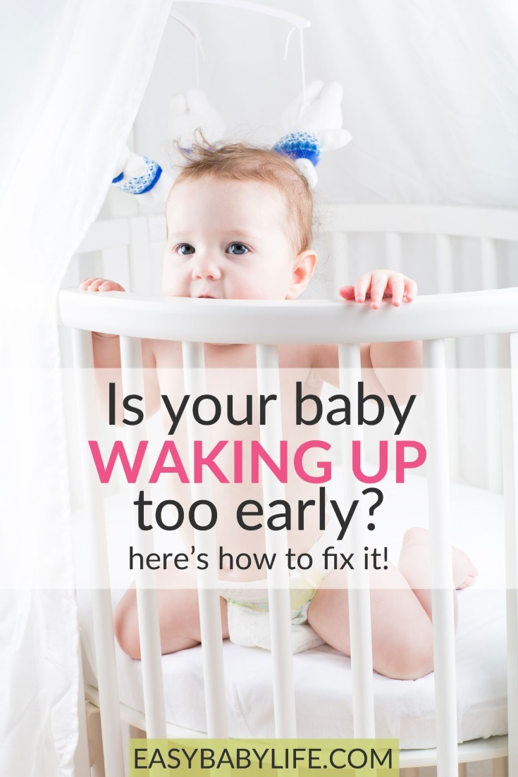 Does your baby ever wake up too early in the morning..?  Here are some awesome tips to make your little one sleep in! Baby sleep tips, baby routine, baby tips, new mom tips, exhausted parent, make baby sleep better #baby