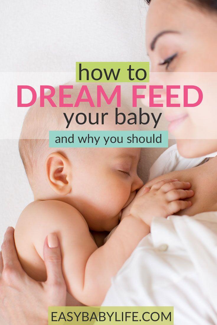 Awesome tips for dreamfeeding baby! How to dreamfed, why dreamfeed, new mom sleep, baby sleep tips, feeding baby in the sleep.