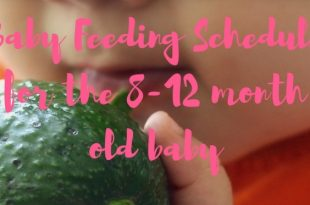 baby feeding schedule 8 months to toddlers