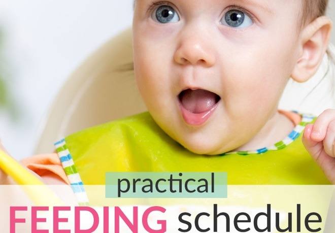 Practical Baby Feeding Schedule For 8-12-Month-Old Babies (& Toddlers!)