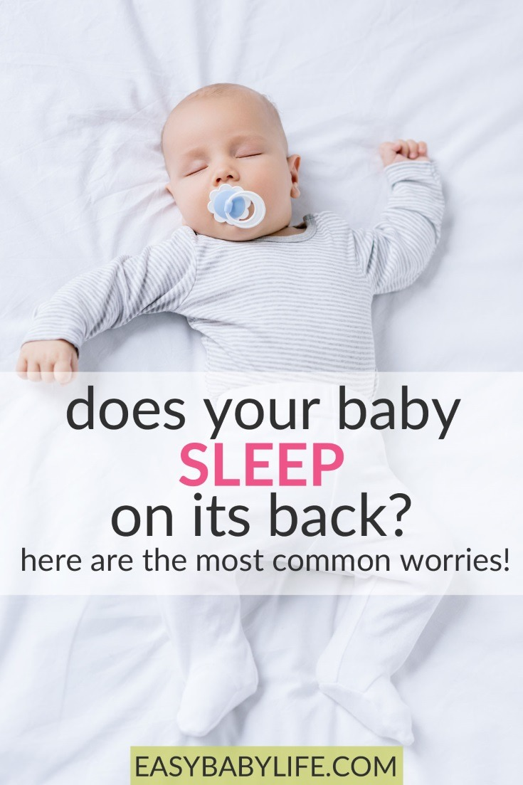 The risk of Sudden Infant Death Syndrome is much lower if your baby sleeps on his/her back. But are there disadvantages? Find answers here! Baby sleep tips, sids, baby sleep safety, sudden infant death syndrome, cot death