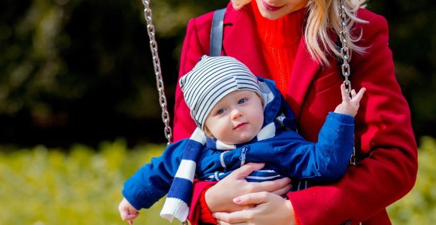 taking baby to playground