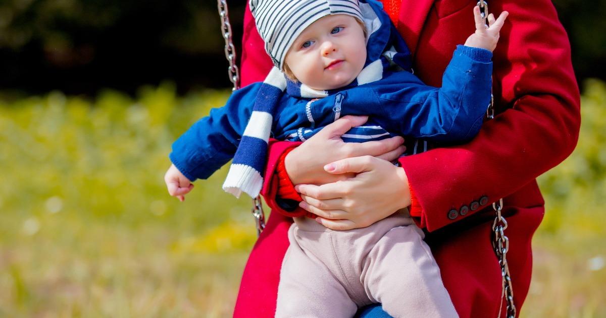 take baby to the playground