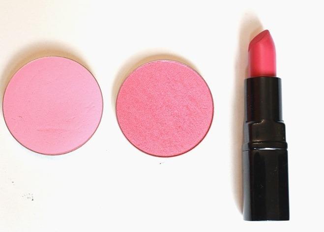 use lipstick as blusher