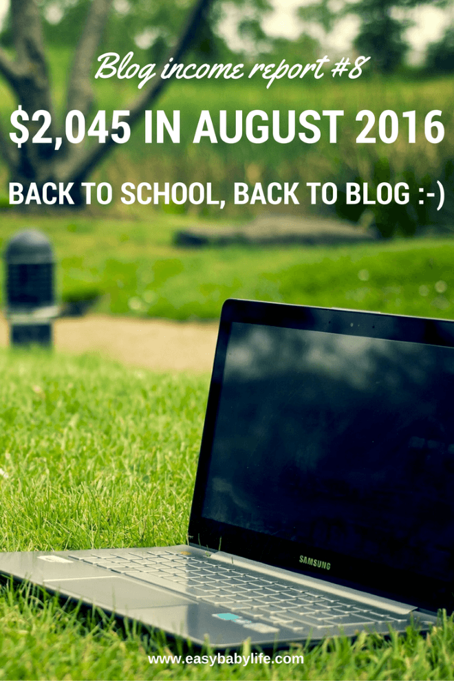 august 2016 blog income report