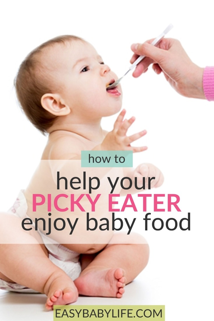 Helpful tips for picky eater babies! How to introduce baby food to a picky eater. Picky babies, baby refuses baby food, picky eater tips, picky eater ideas