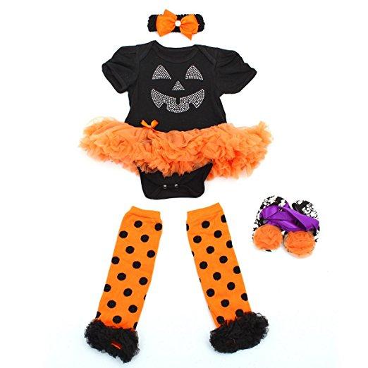 baby halloween pumpkin dress