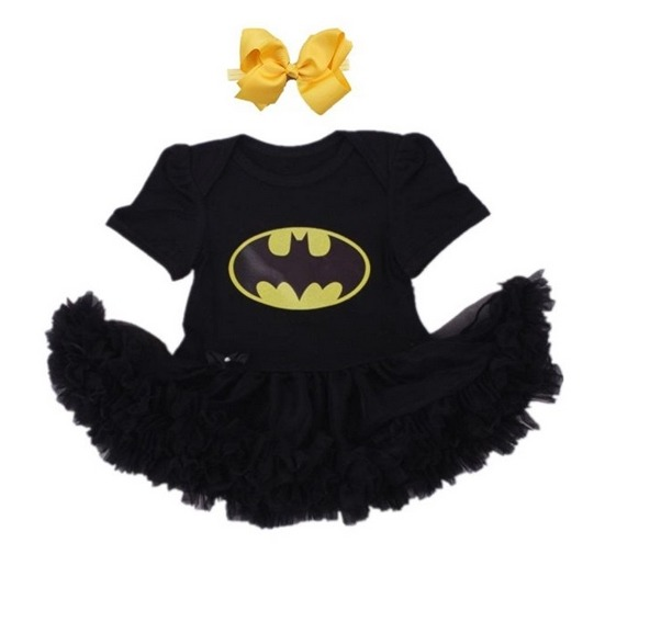 batman black baby girl costume