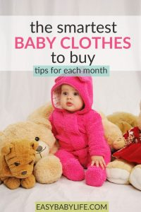 baby clothes by month