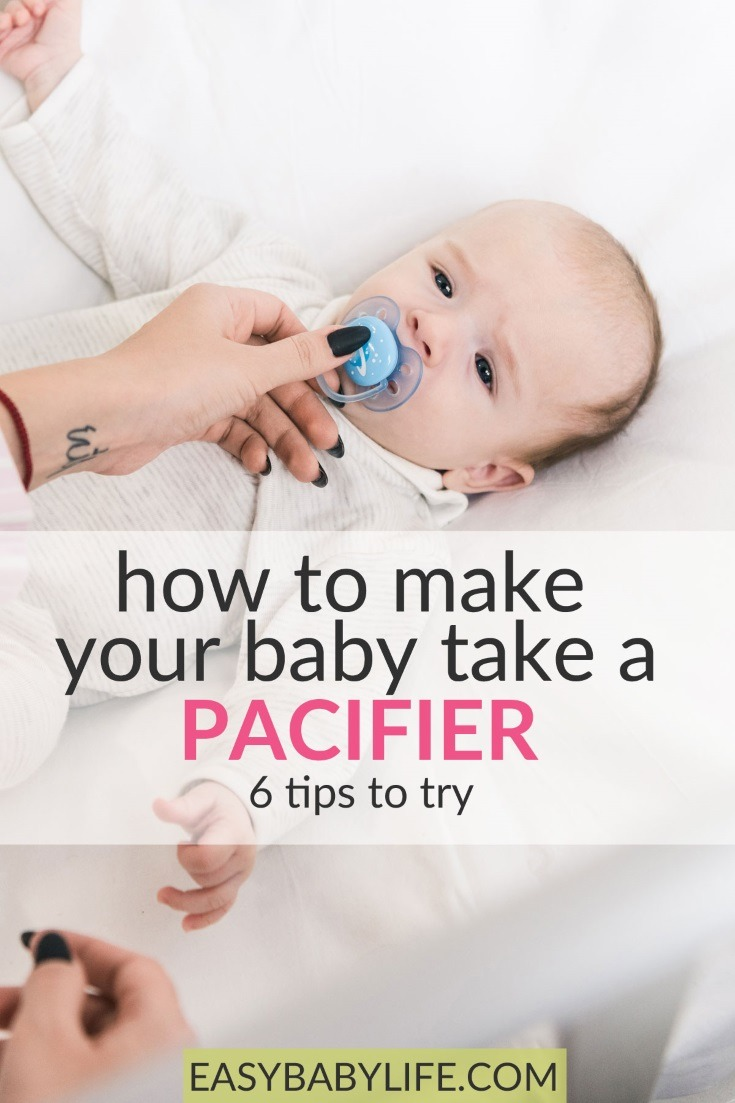 how to make your baby take the pacifier
