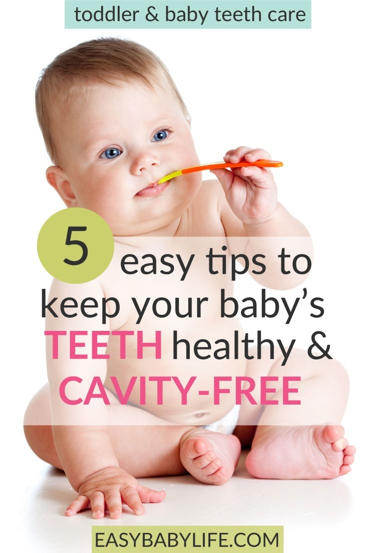 Awesome tips for toddler and baby teeth care! So important to avoid early cavities, Baby teeth care, toddler teeth care, brushing baby teeth, brushing toddler teeth, cleaning baby teeth, cleaning toddler teeth