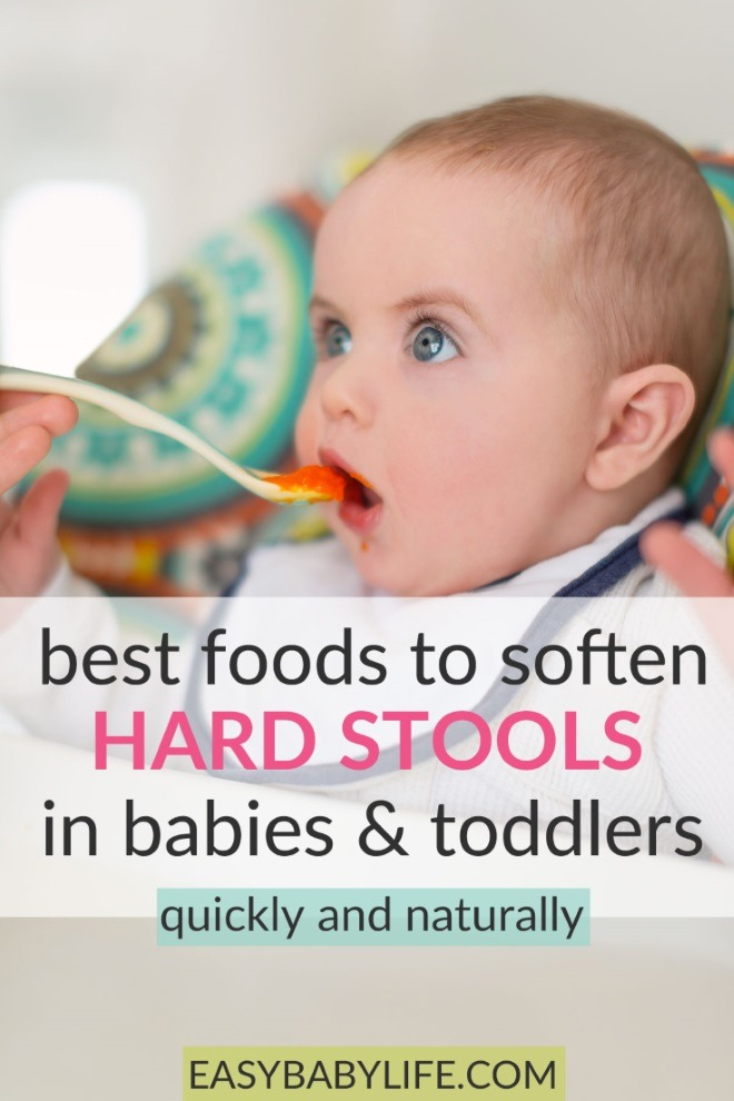 foods to soften hard stools in babies and toddlers