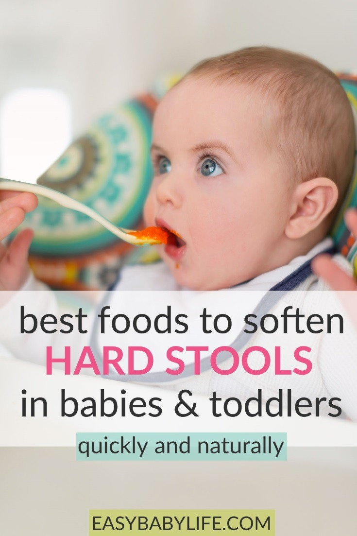 Awesome list of foods to soften hard stools in babies and toddlers! Constipation in babies, constipation in toddlers, constipation foods for toddlers, constipation foods to avoid, hard stool remedy kids, hard poop in toddler, hard poop in babies #baby #toddler