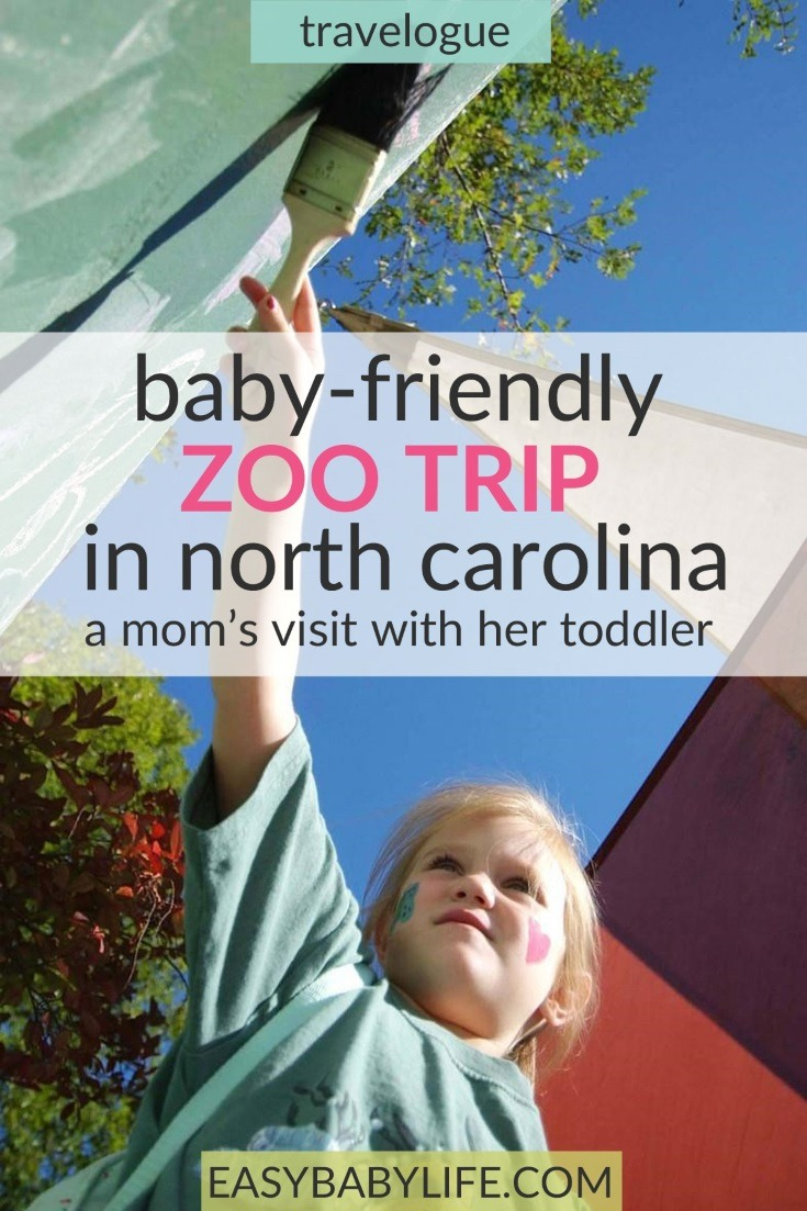If you plan to go to the NC Zoo with young kids be sure to read this travelogue!  Toddler travel tips, zoo with toddler, North Carolina, baby travel tips, #northcarolina #kidstravel