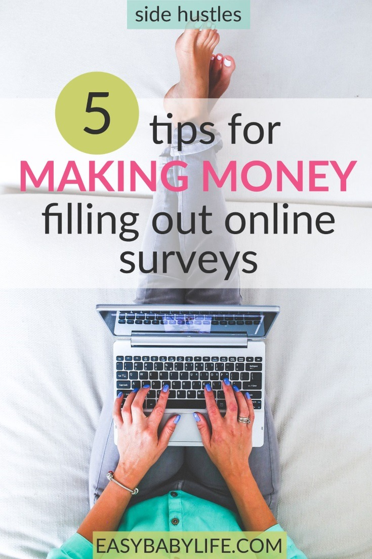 Here are the mistakes NOT to make if you want to make money by answering online surveys! Side hustle ideas, side hustle at home, side hustle tips, online surveys for money, best online surveys
