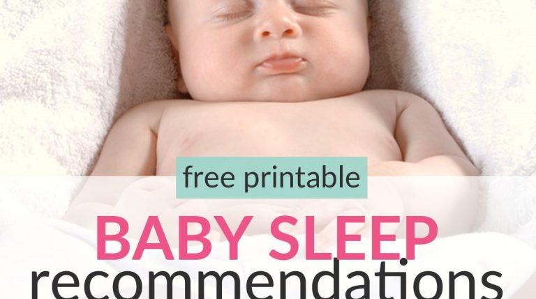 Easy Baby Sleep Schedule Newborn To Toddler (Nights & Naps)
