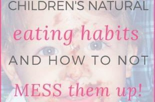 childrens eating habits