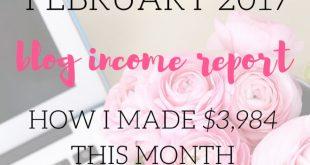 February 2017 blog income report