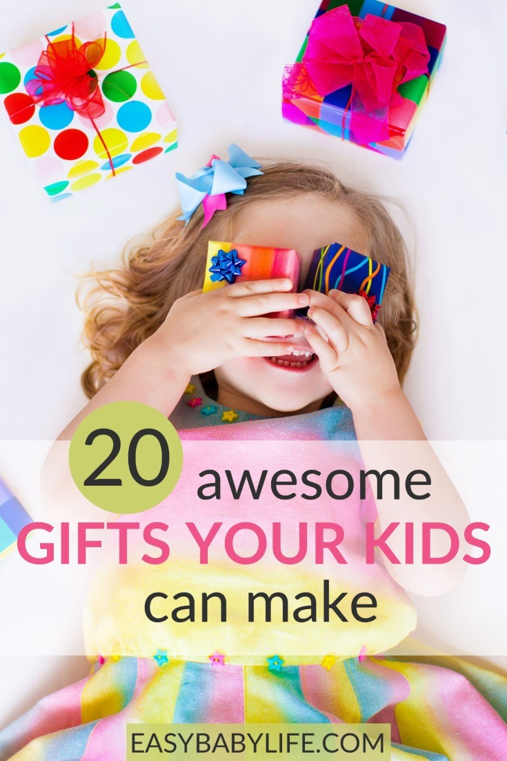 Awesome gifts that kids can make! Crafts and ideas on gifts for Valentine's Day, Mother's Day, Father's Day and so on that toddlers and children can make or fix! Gifts for mom, Toddler craft ideas, preschooler crafts, schoolkids gift crafts, valentine's day