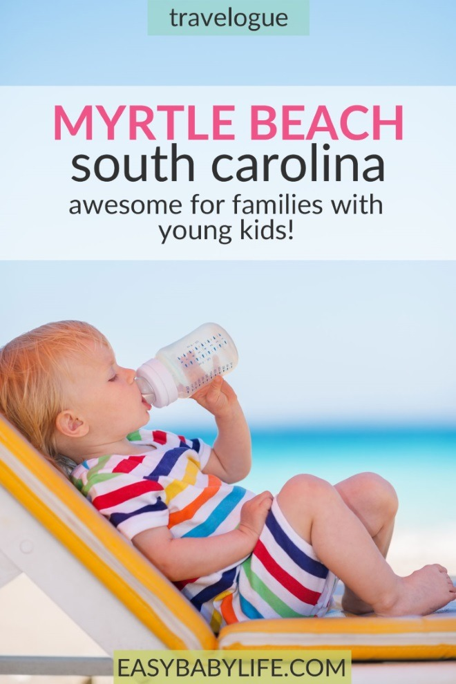 myrtle beach with a baby and toddler