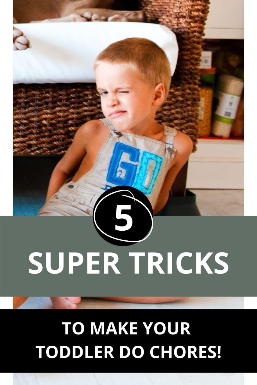 how make toddler do chores!